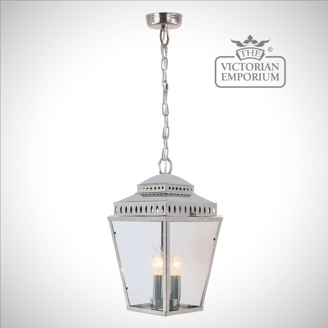 Mansion house ceiling lantern - polished nickel