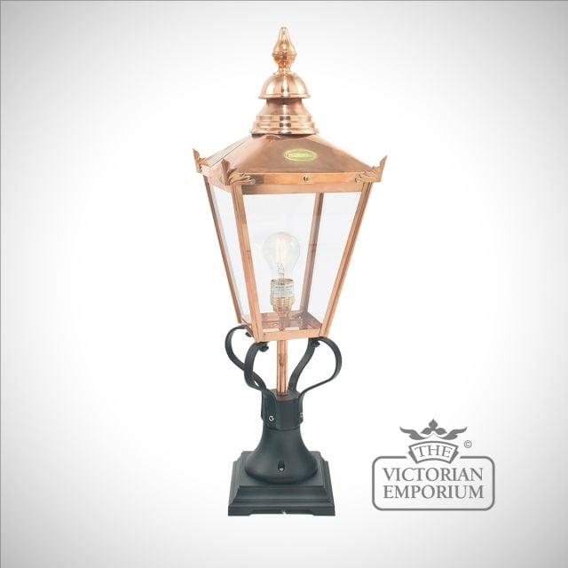 Chelsea Copper Large Pedestal lantern