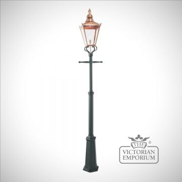 Chelsea Copper Lantern with Lamp Post