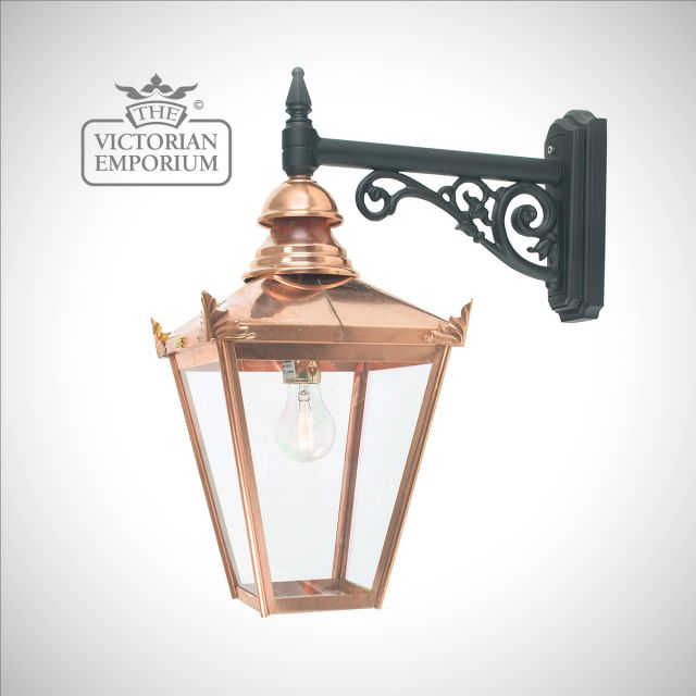 Chelsea Copper Down wall lantern