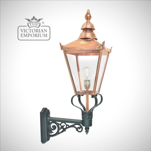 Chelsea Copper Up wall lantern