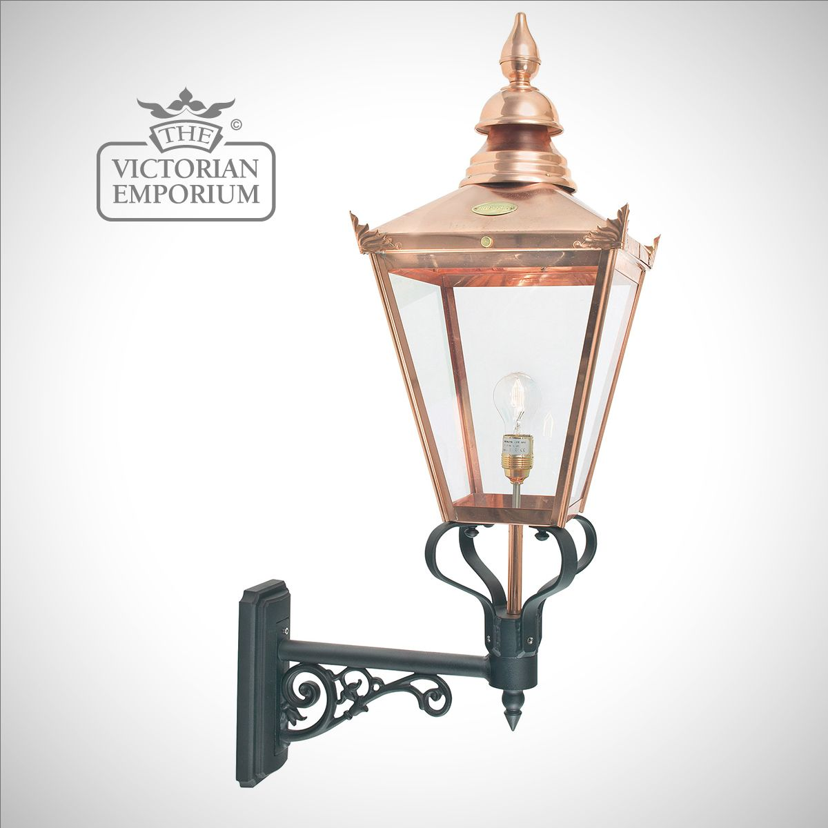 Chelsea Copper Large Up Wall Lantern Outdoor Wall Lights