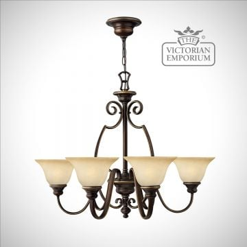 Olde bronze 6 uplight pendant ceiling light