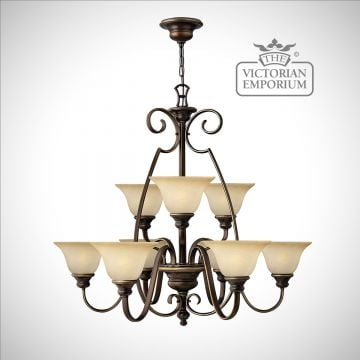 Olde bronze 9 uplight chandelier