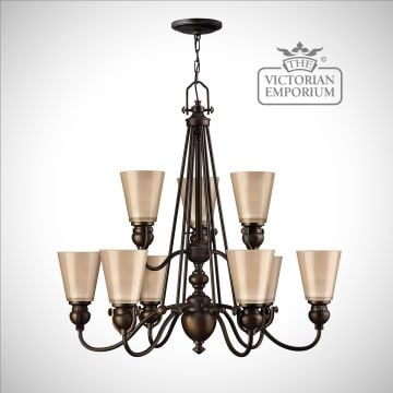 Olde bronze 9 light chandelier