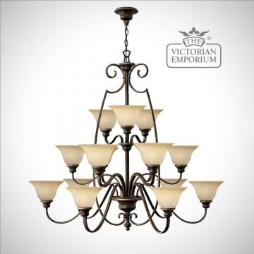 Olde bronze grand 15 uplight chandelier