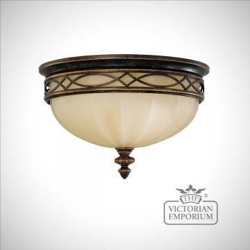 Flush Mount light with decorative band