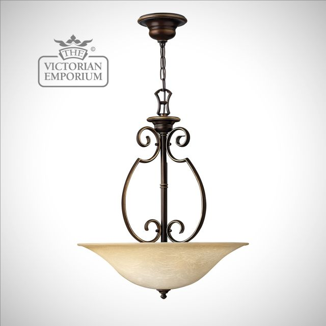 Olde bronze large pendant light
