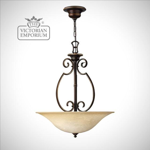 Olde bronze large pendant light
