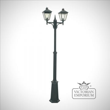 Turin Double Lamp Post - Black