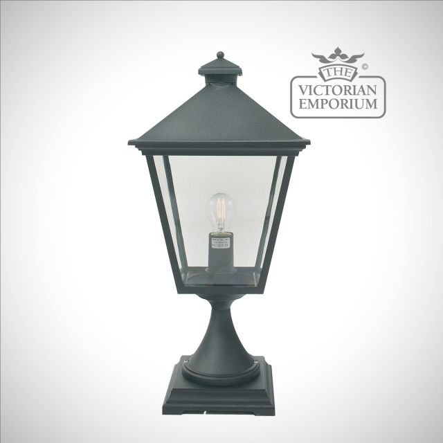 Turin Pedestal Lantern - Black