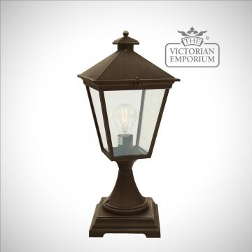 Turin Pedestal Lantern - Gold
