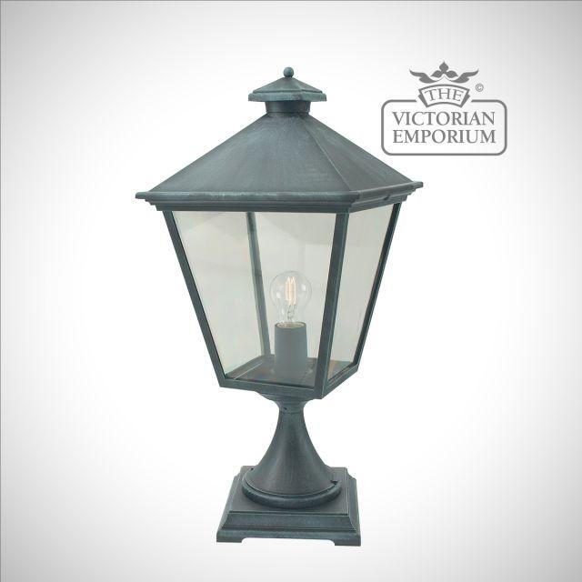 Turin Pedestal Lantern - Verte