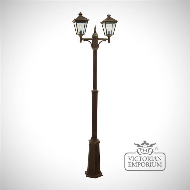 Turin Double Lamp Post - Gold