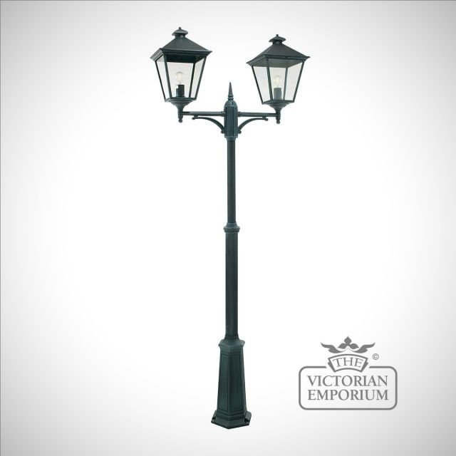 Turin Double Lamp Post - Verte