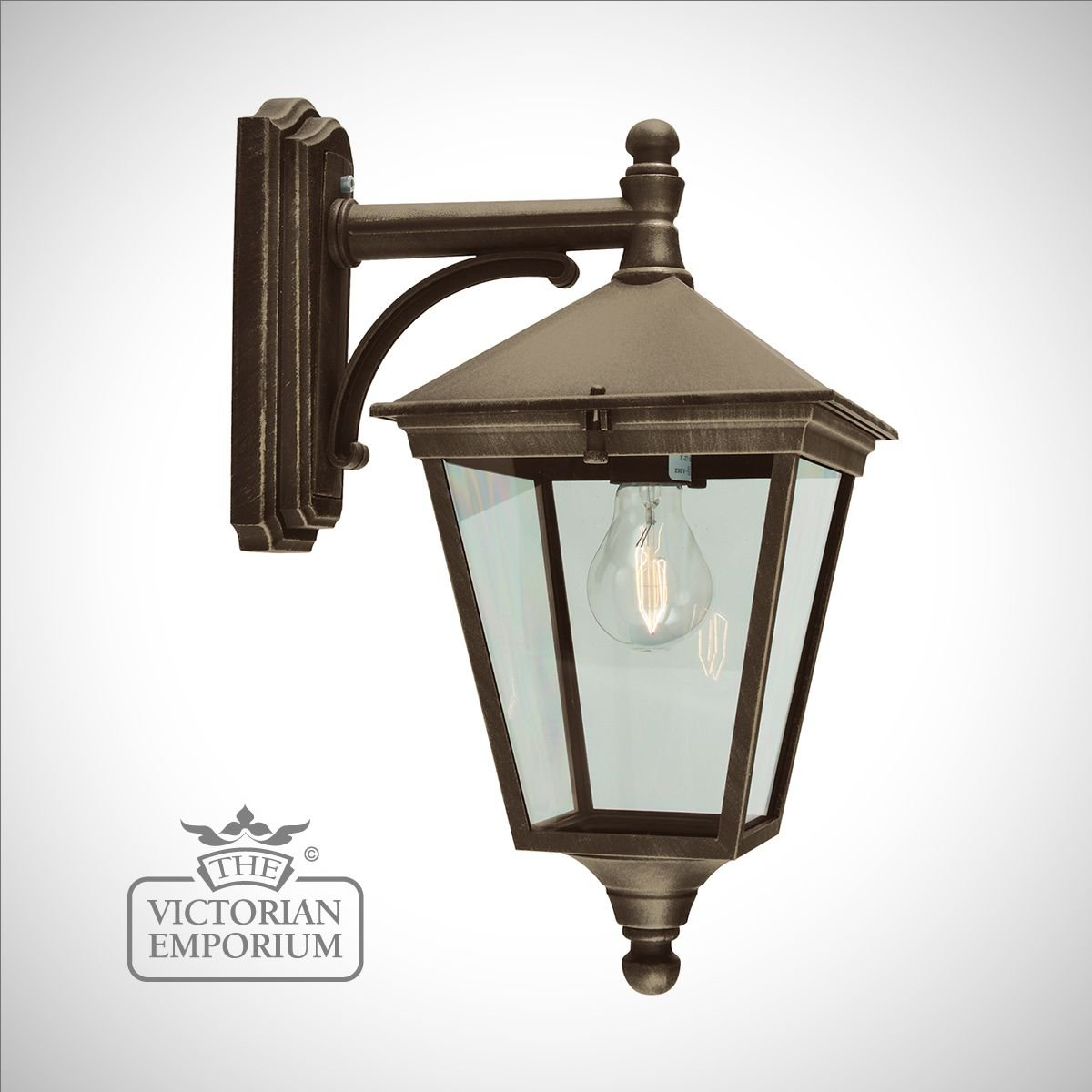 Turin Wall Lantern Gold Outdoor Wall Lights