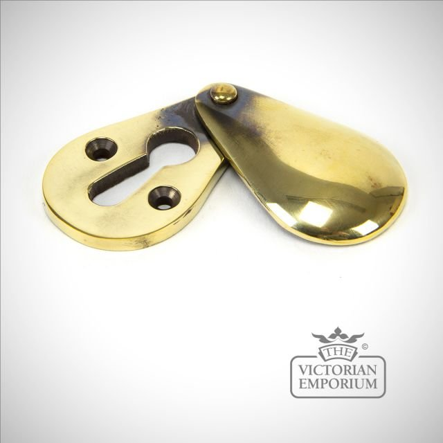 Aged Brass Plain Door Escutcheon