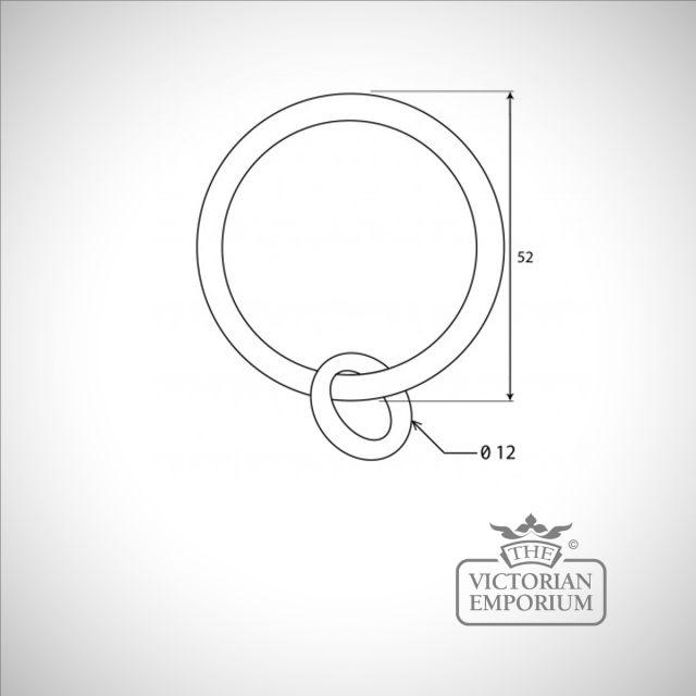 Black curtain ring