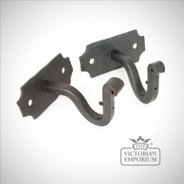 Beeswax curtain pole brackets