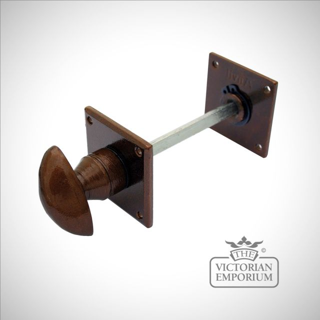 Bronze bathroom thumbturn