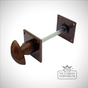 Bronze bathroom thumbturn