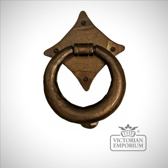 Bronze ring door knocker