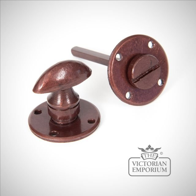 Bronze round bathroom thumbturn