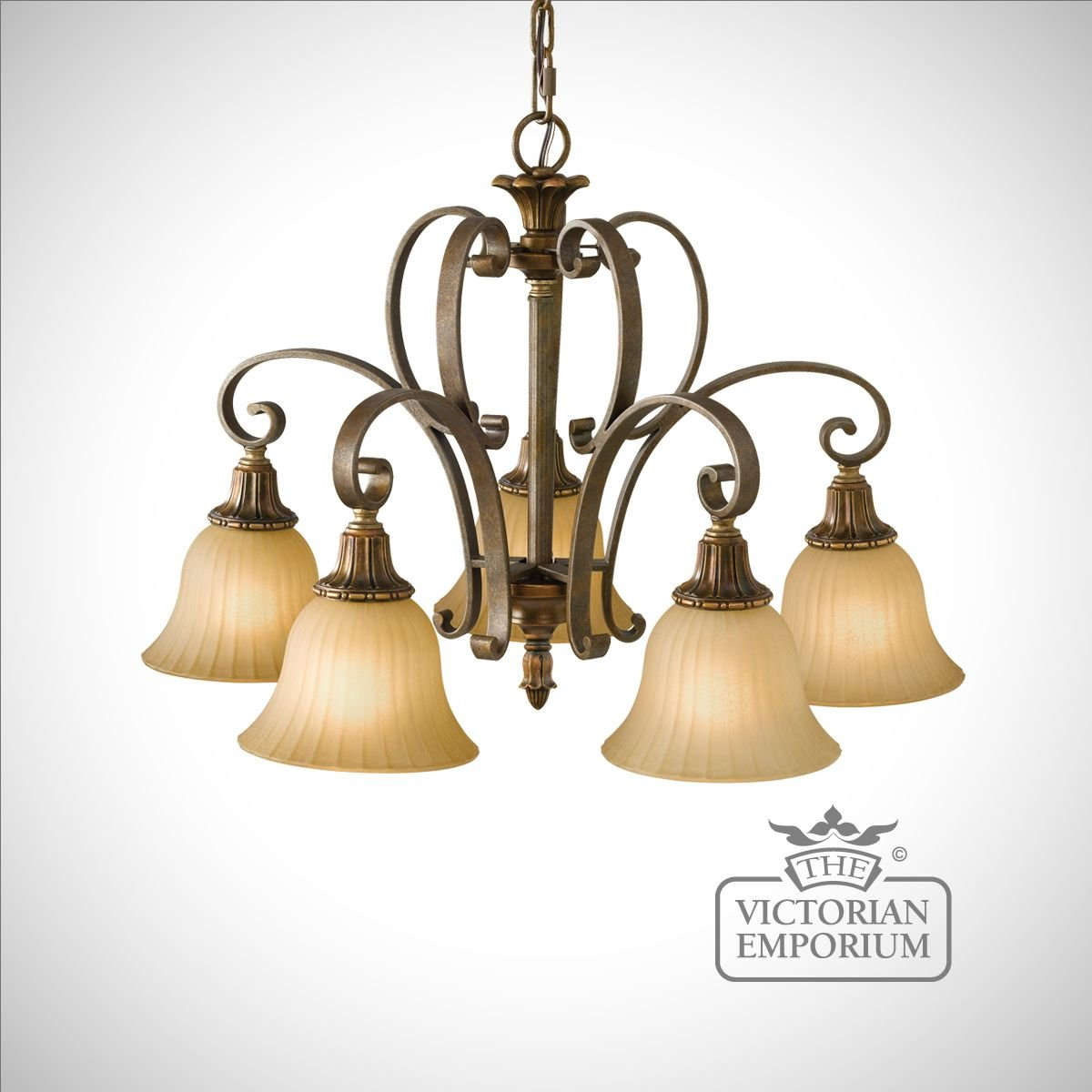 Gold And Bronze 5 Light Chandelier Ceiling Chandeliers