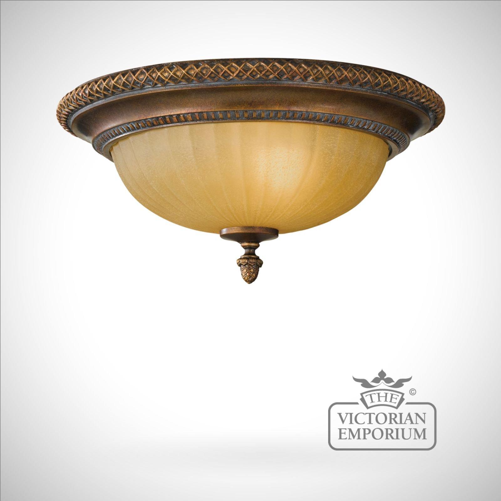Victorian Flush Ceiling Light - AxSoris.