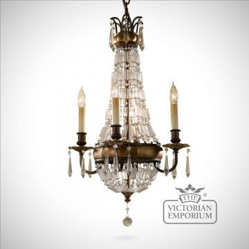 Bronze and Antique Quartz small chandelier