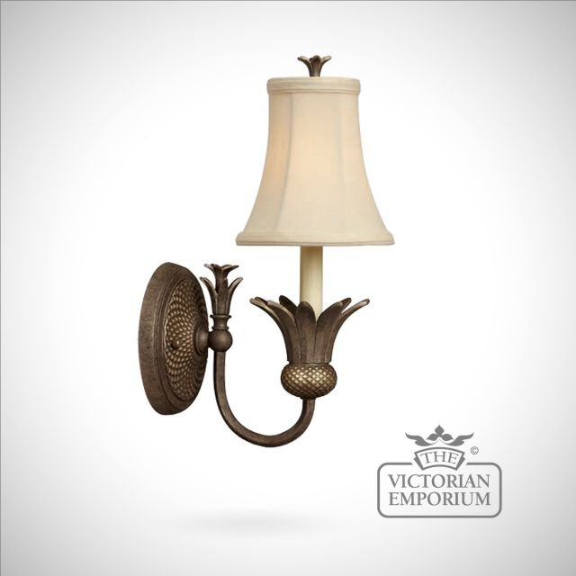 Plantation style wall sconce