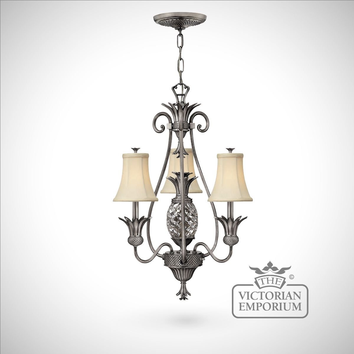 plantation style 3 light chandelier ceiling chandeliers