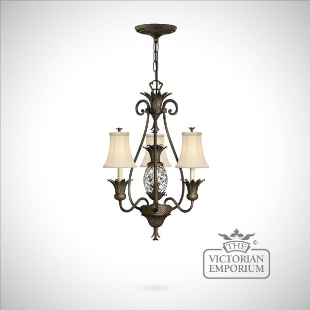 Plantation Style 3 Light Chandelier Interior Ceiling And