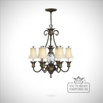 Plantation style medium chandelier