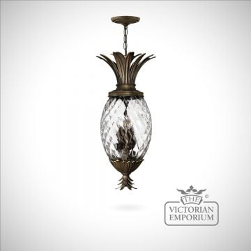 Plantation pineapple style ceiling light