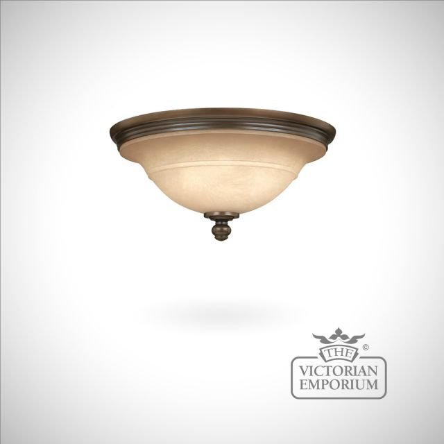 Olde bronze flush ceiling light