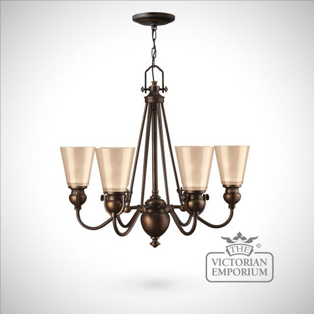 Olde bronze 6 light chandelier
