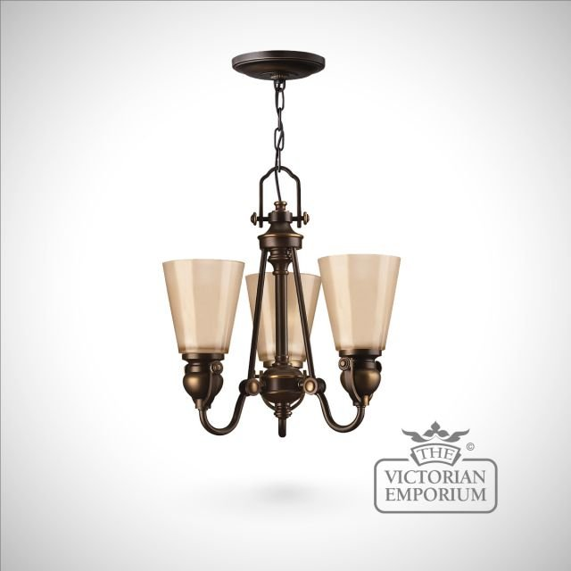 Olde bronze 3 light chandelier