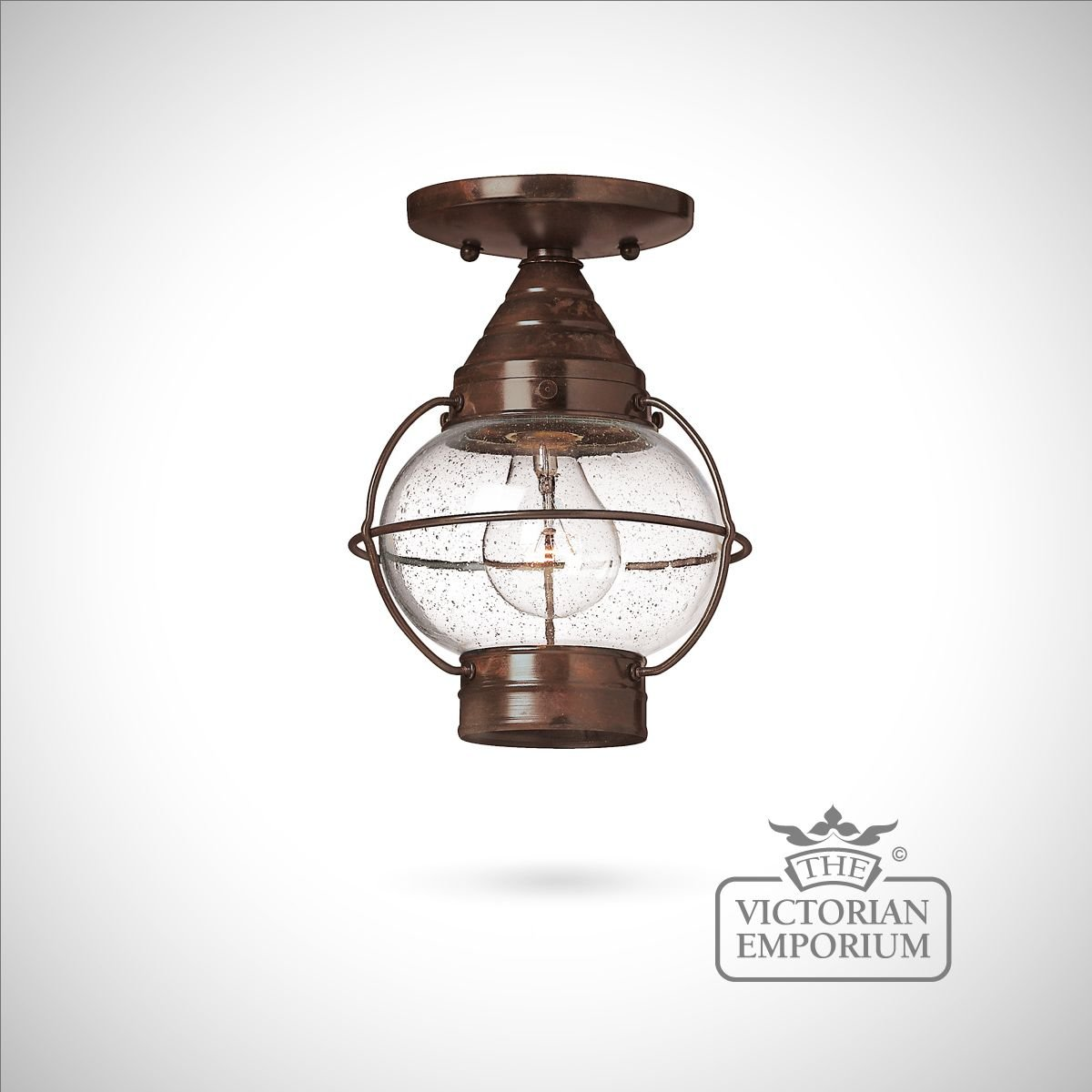 Classic Onion Lantern In Sienna Bronze   Medium