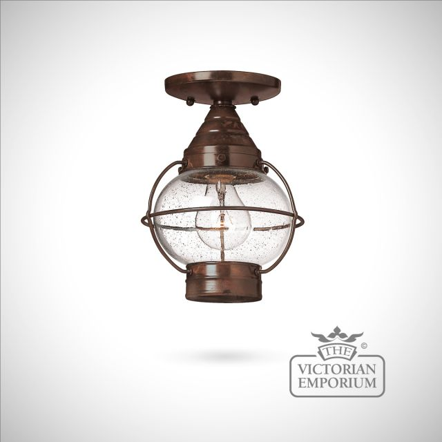 Classic onion lantern in Sienna Bronze - medium