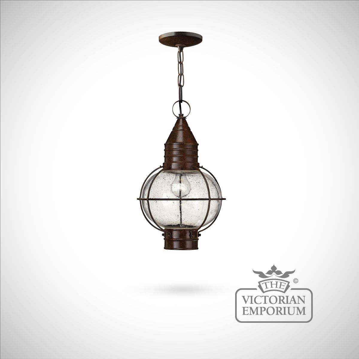 classic onion ceiling lantern in sienna bronze large