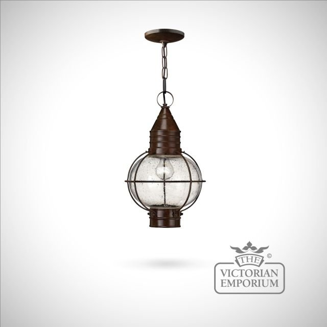 Classic onion ceiling lantern in Sienna Bronze - large