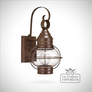 Classic onion wall lantern in Sienna Bronze - large