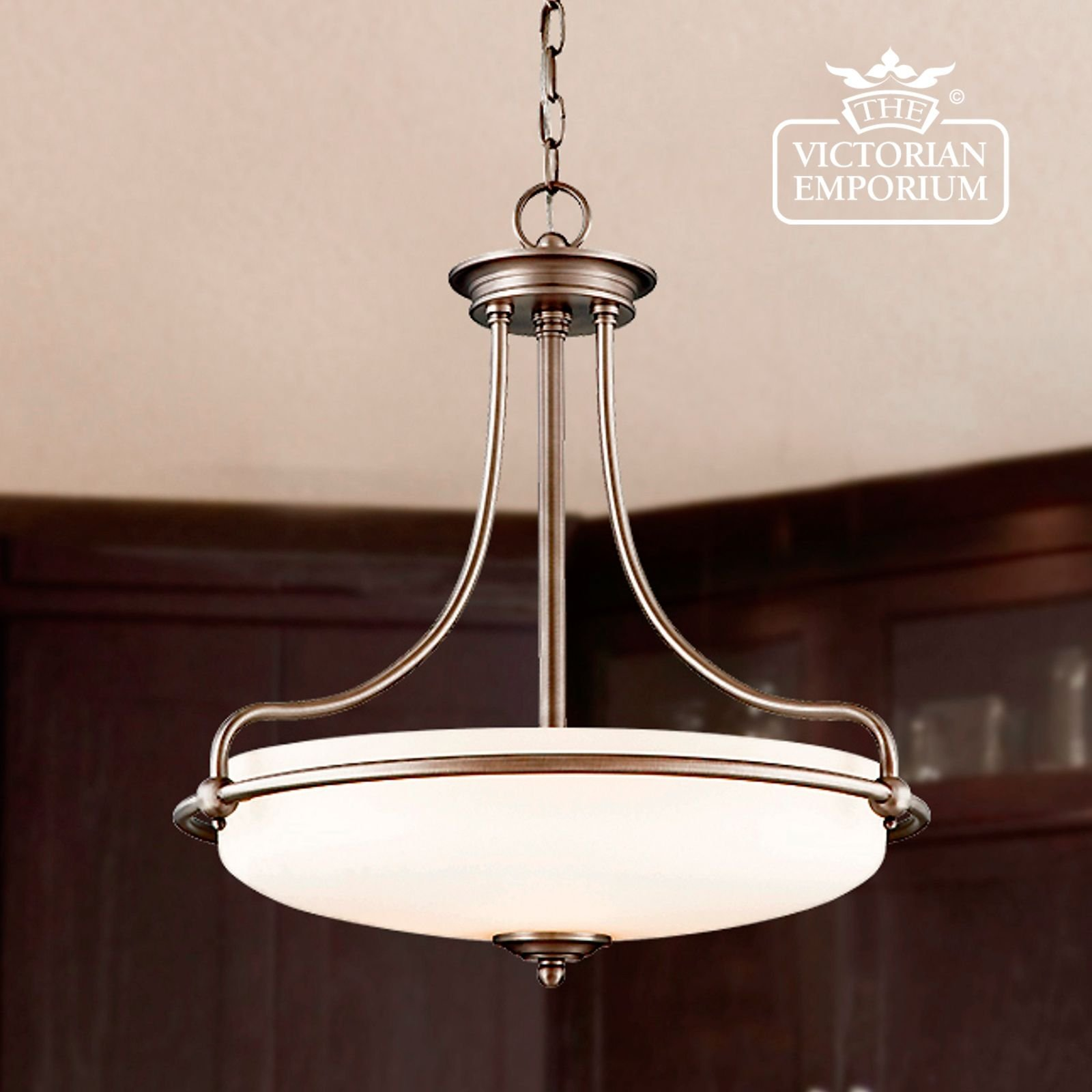 simple and elegant ceiling light with chain interior