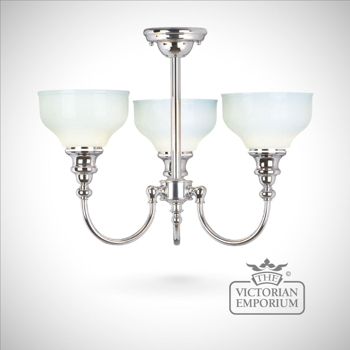 cheadle triple chrome ceiling light