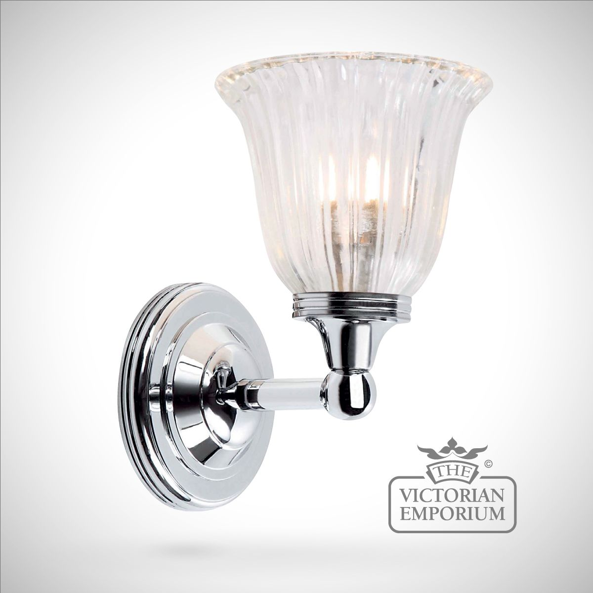 bathroom wall light austin 1 in polished chrome lights