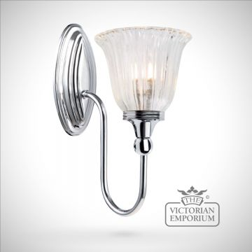 Bathroom wall light - Blake 1  in polished chrome