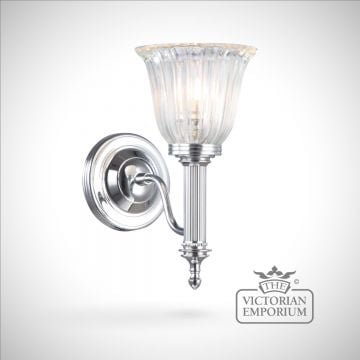 Bathroom wall light - Carol 1 in polished chrome