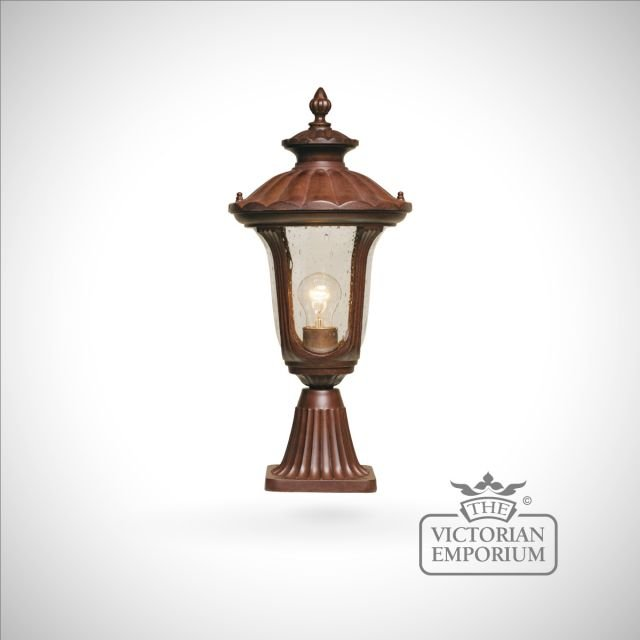 Parish Mini Pedestal Lantern: Bronze Pedestal Lantern - Small