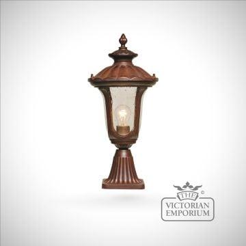 Bronze pedestal lantern - small
